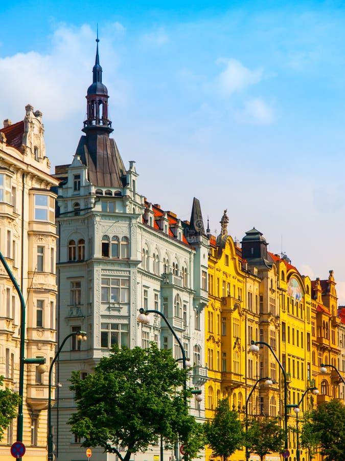 Masaryk堤防在布拉格 免版税库存图片