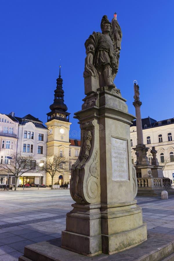 Masaryk广场在俄斯拉发 免版税库存照片