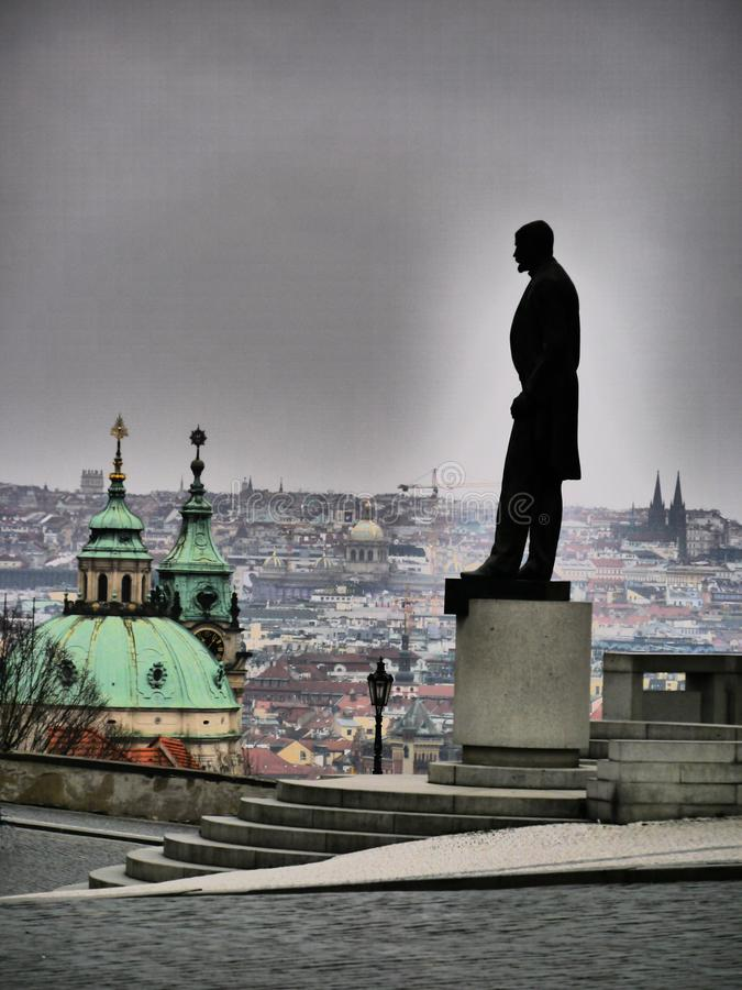 Masaryk - The Guardian da democracia imagem de stock