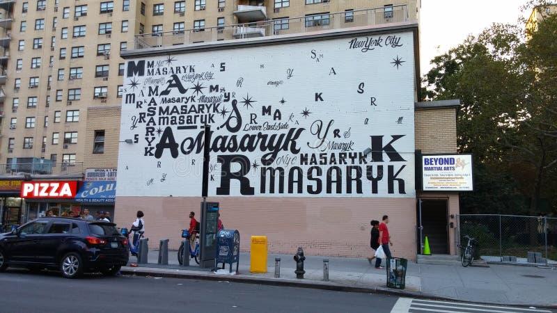 Masaryk ragt Kolumbien-Straße hoch lizenzfreies stockfoto