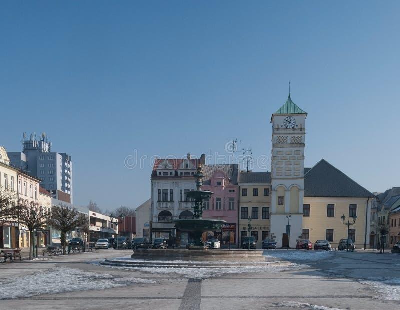 Masarykovo namesti在捷克共和国的正方形在Karvina - Frystat 免版税库存图片