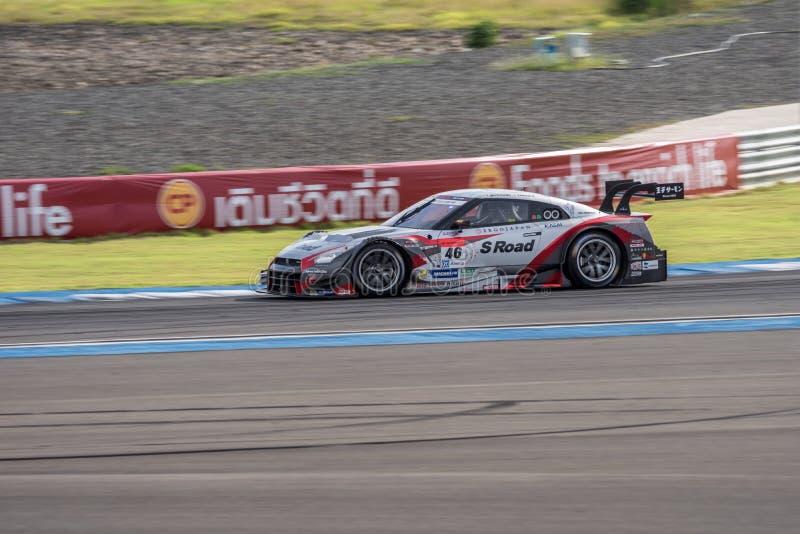 Masataka Yanagida van MOLA in Super Definitieve Race 66 van GT Overlappingen bij 2015 royalty-vrije stock afbeeldingen