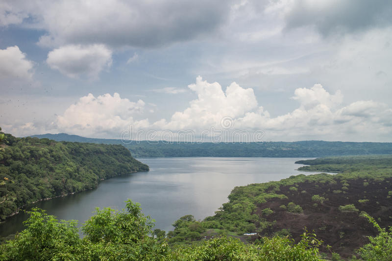 Masaya Laguna widok od Nikaragua obraz stock