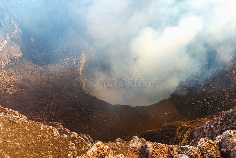 Masaya Volcano et cratère, Nicaragua images stock