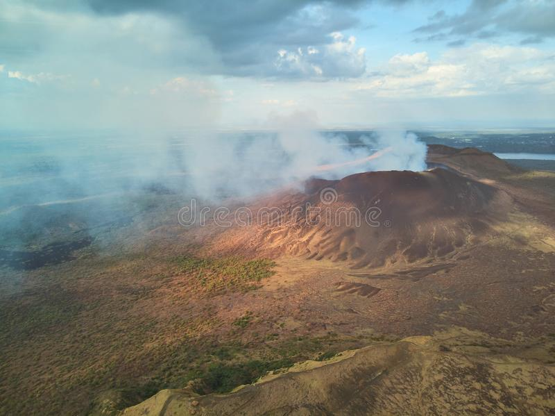 Masayavulkaan in Nicaragua stock foto
