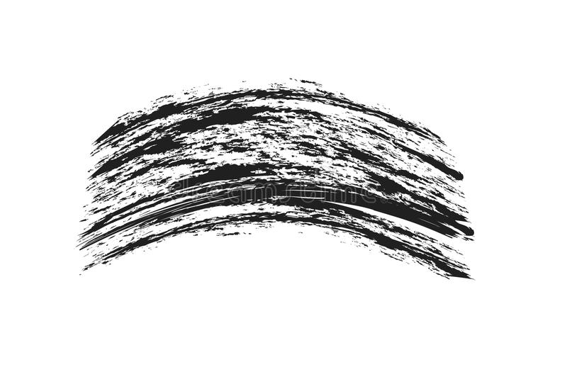 Mascaraögonfrans borstar slaglängdmakeup som isoleras på den vita backgrouen vektor illustrationer