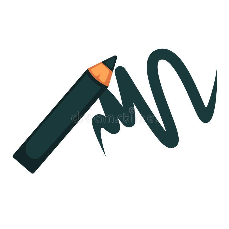 Mascara μολυβιών Eyeliner απομονωμένο διάνυσμα επίπεδο εικονίδιο καλλυντικών γυναικών makeup ελεύθερη απεικόνιση δικαιώματος