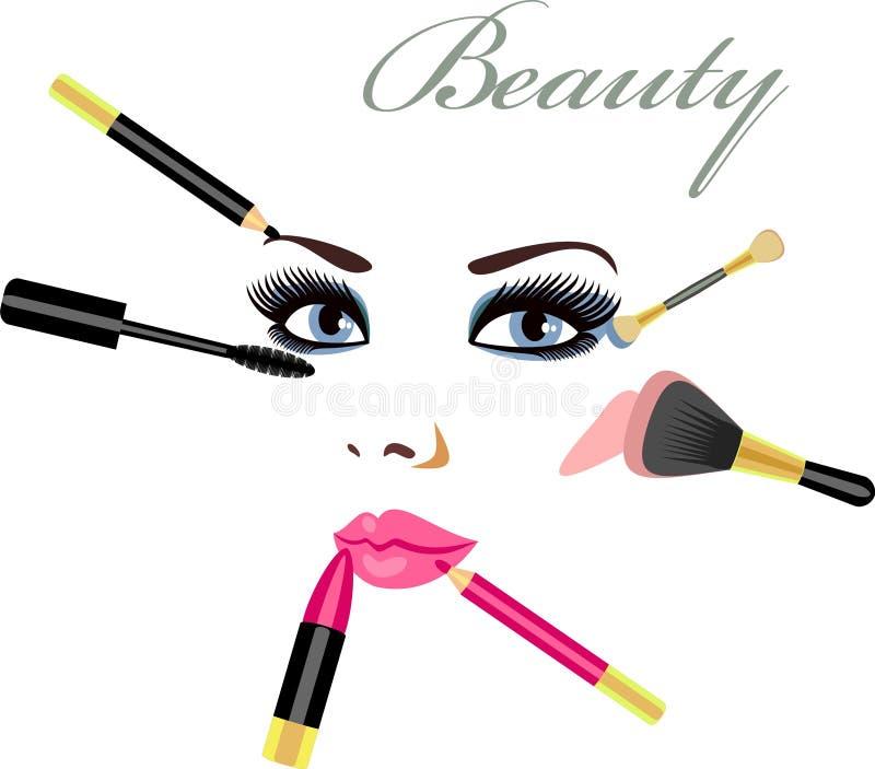 mascara royaltyfri illustrationer