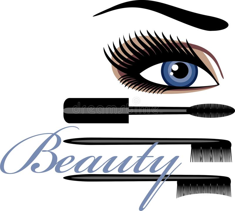 Download Mascara stock vector. Illustration of glamour, beauty - 17792590