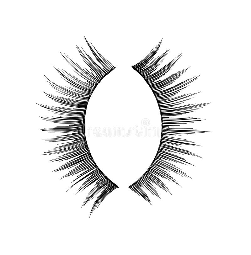 Mascara eyelash make up beauty cosmetics stock image