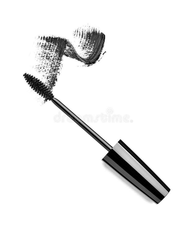 Mascara eyelash make up beauty cosmetics stock illustration