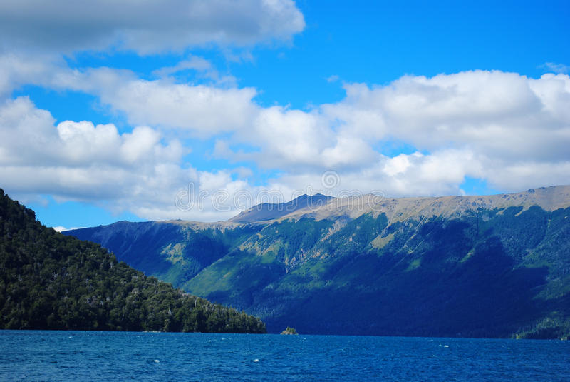 Mascardi湖,巴里洛切,阿根廷 免版税图库摄影