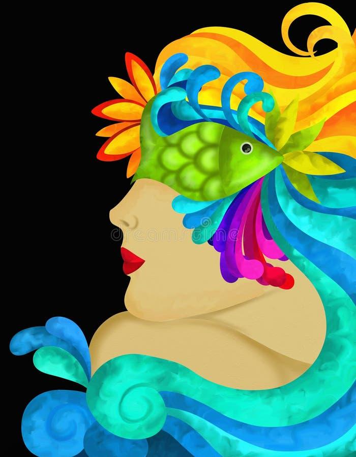 Mascarilla adornada libre illustration