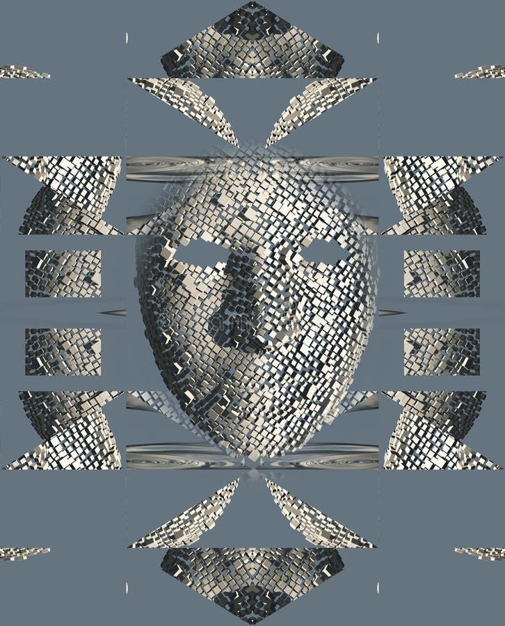 Mascarilla surrealista ilustración del vector