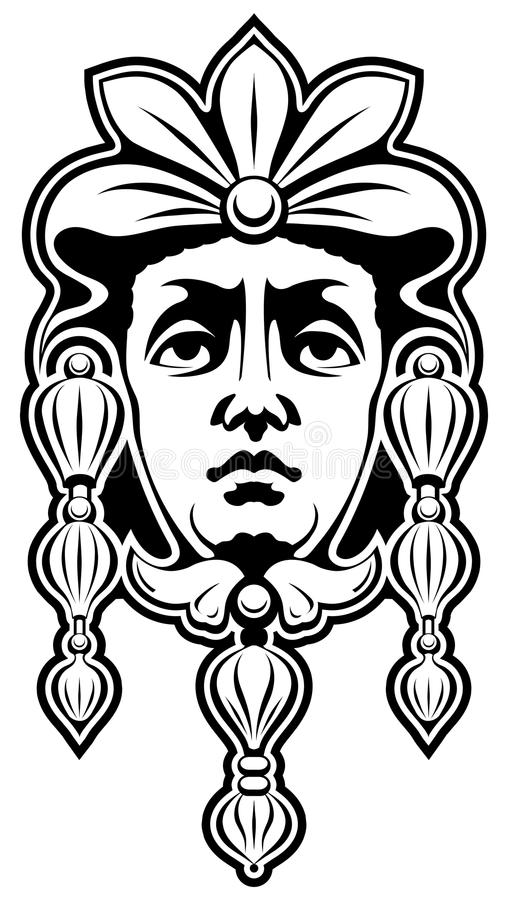 Mascaron illustrazione di stock