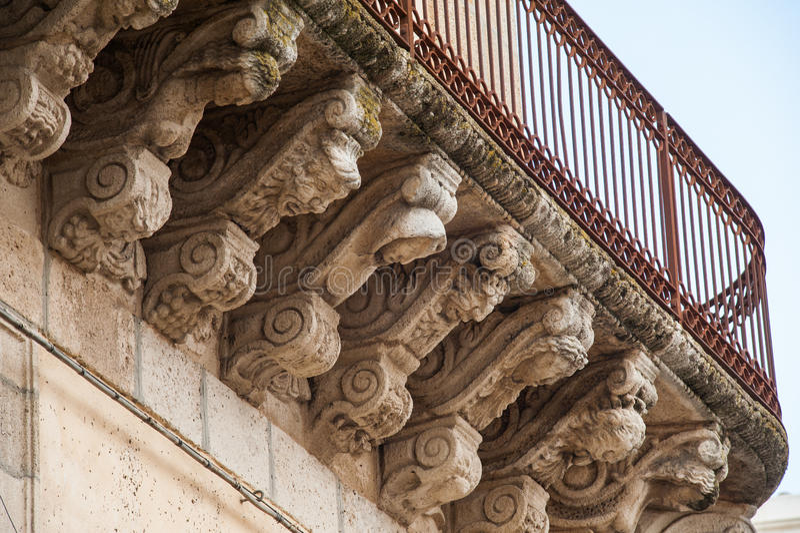 Mascarons barrocos imagens de stock