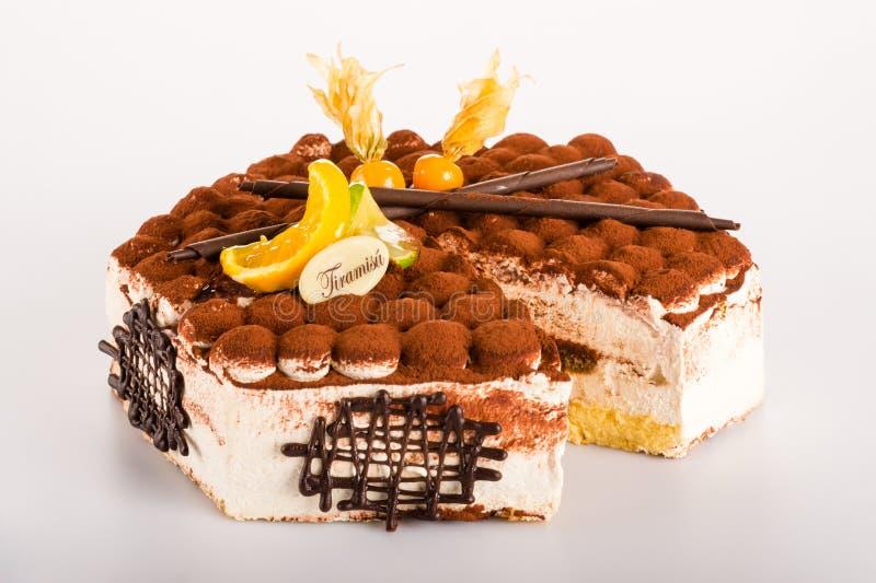 Mascarpone торта десерта Tiramisu очень вкусный сметанообразное стоковое фото rf