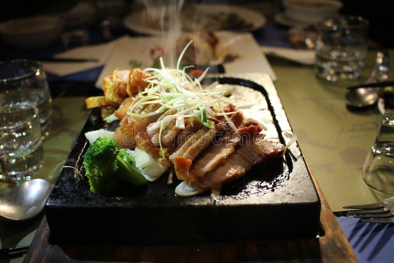 Mascella del maiale del bacon della mascella della carne della mascella dell'arrosto di maiale di Taiwan fotografia stock