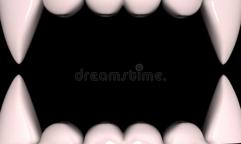Mascelle del vampiro illustrazione di stock