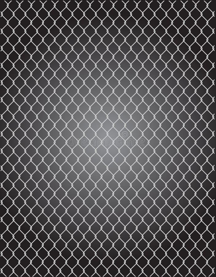 Maschendraht für den Zaun des Vektors stock abbildung