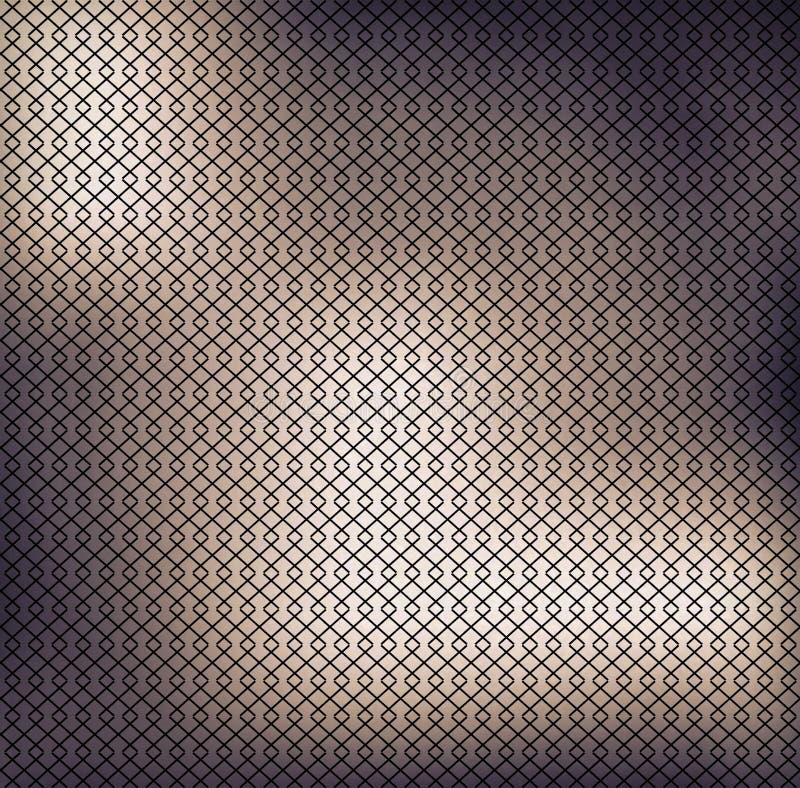Maschengittertapete oder -hintergrund Gitter des schwarzen Quadrats auf weißem Hintergrund lizenzfreie abbildung