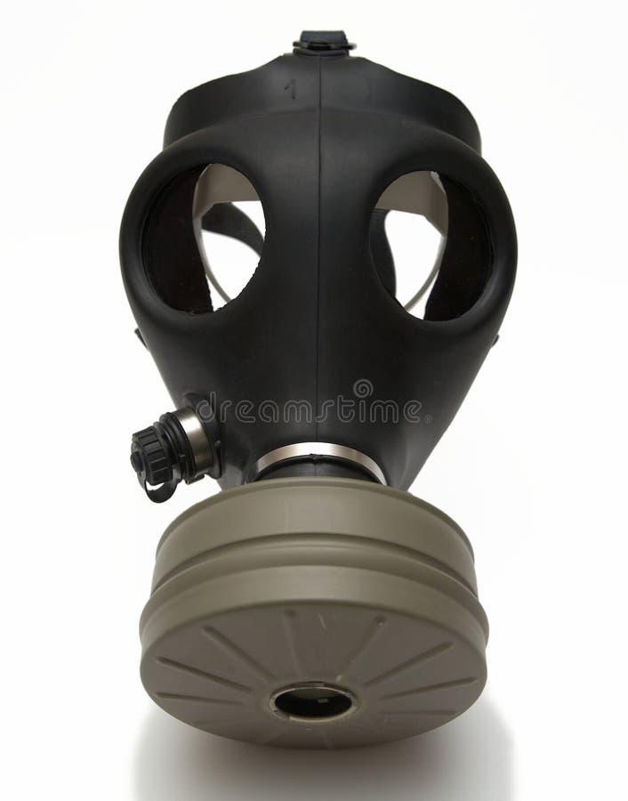 Maschera antigas isolata + ombra fotografia stock libera da diritti