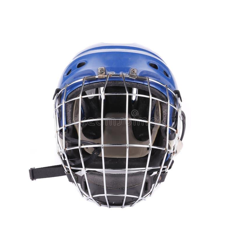 Maschera blu del portiere dell'hockey immagine stock