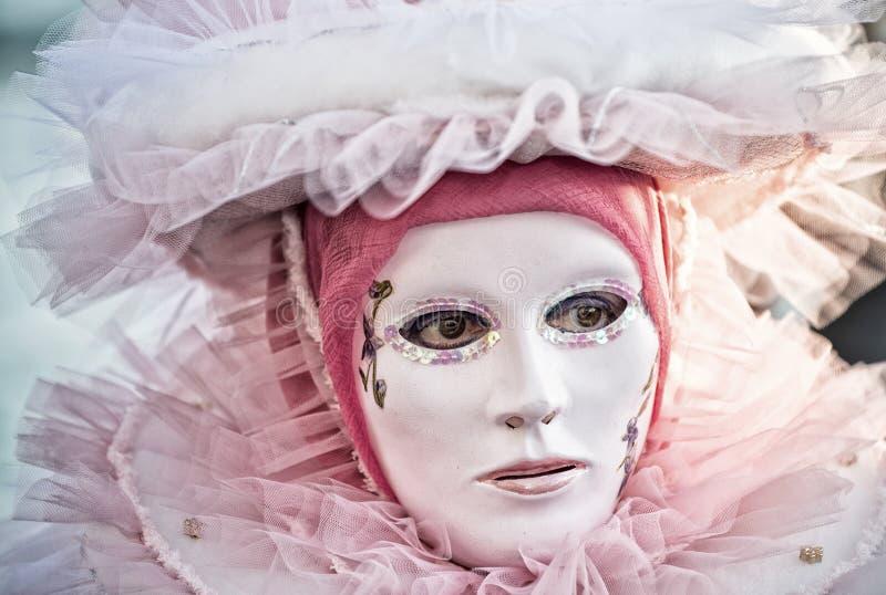 Maschera Colourful di carnevale a Venezia fotografia stock libera da diritti