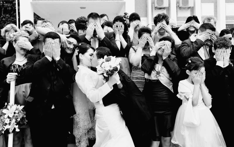 Maschera convenzionale di cerimonia nuziale divertente fotografia stock