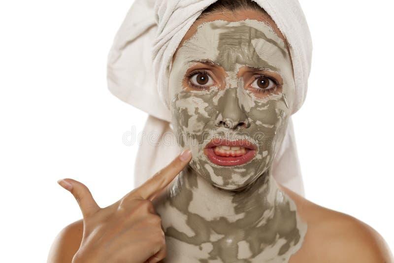 Maschera cura-pazza facciale fotografie stock libere da diritti