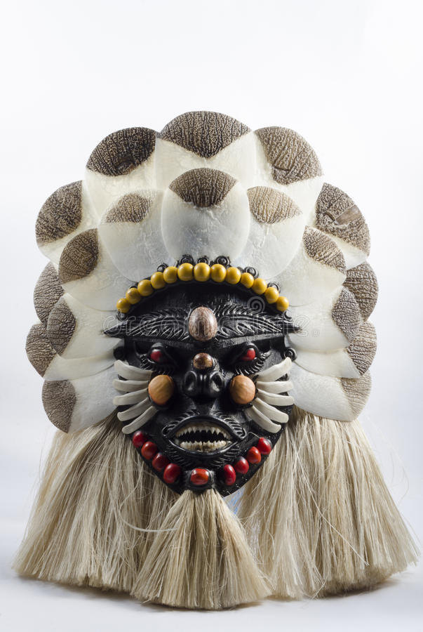 Maschera da Manaus, Brasile fotografie stock libere da diritti