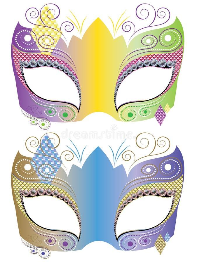 Maschera decorativa di carnevale royalty illustrazione gratis