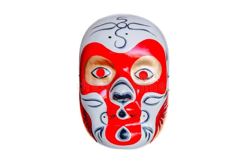 Maschera del cinese tradizionale su fondo bianco fotografia stock
