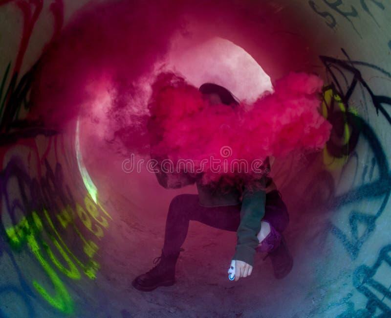 Maschera del fumo immagine stock