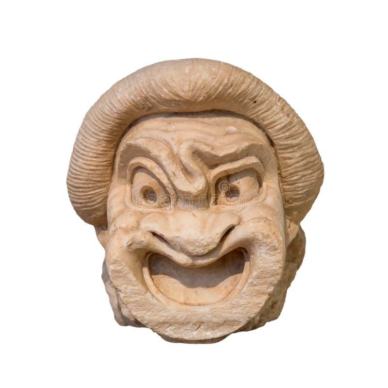 Maschera del teatro del greco antico fotografia stock libera da diritti
