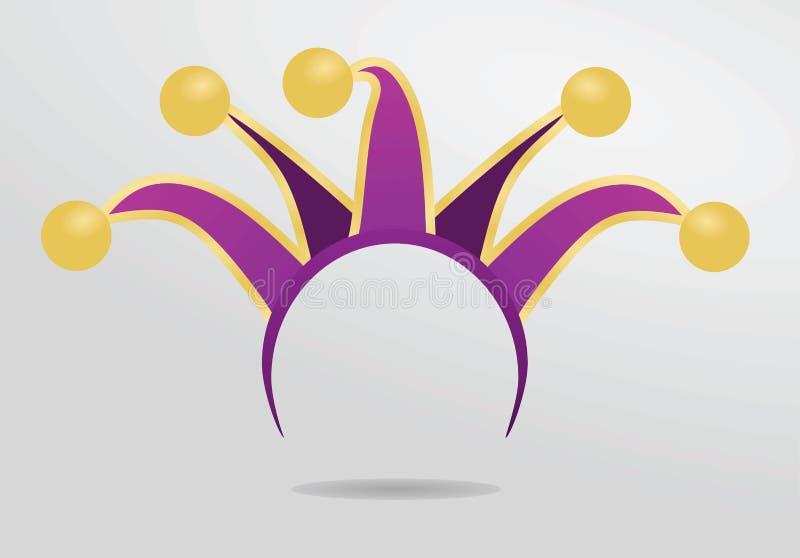 Maschera della fascia del giullare illustrazione vettoriale