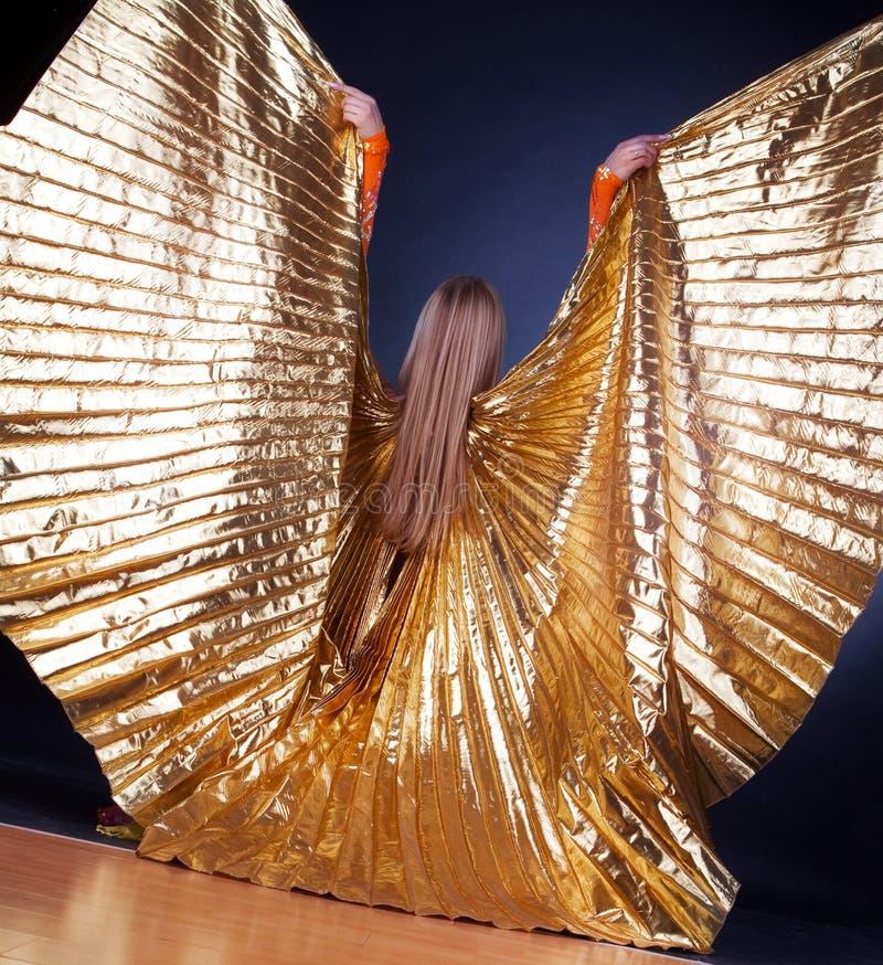 Maschera delle ali da portare della donna immagine stock