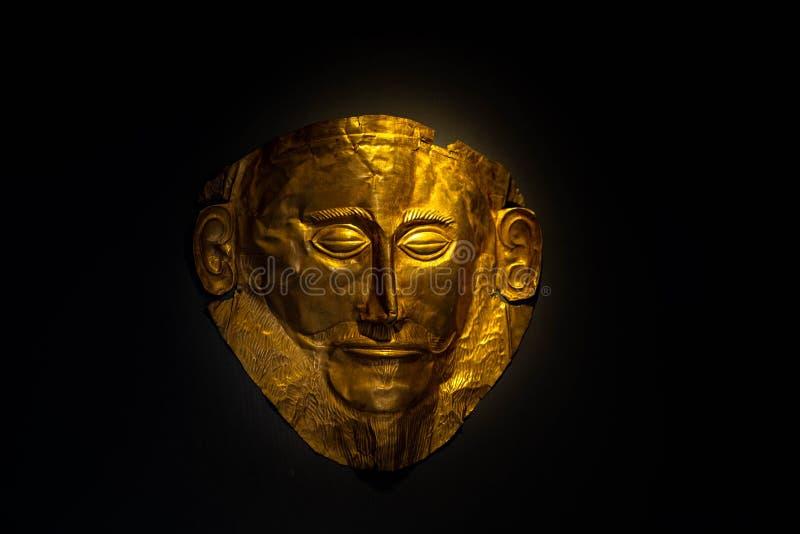 Maschera di Agamemnon fotografia stock