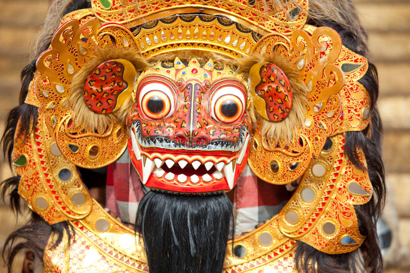 Maschera di Bali durante il balinese nazionale classico immagine stock