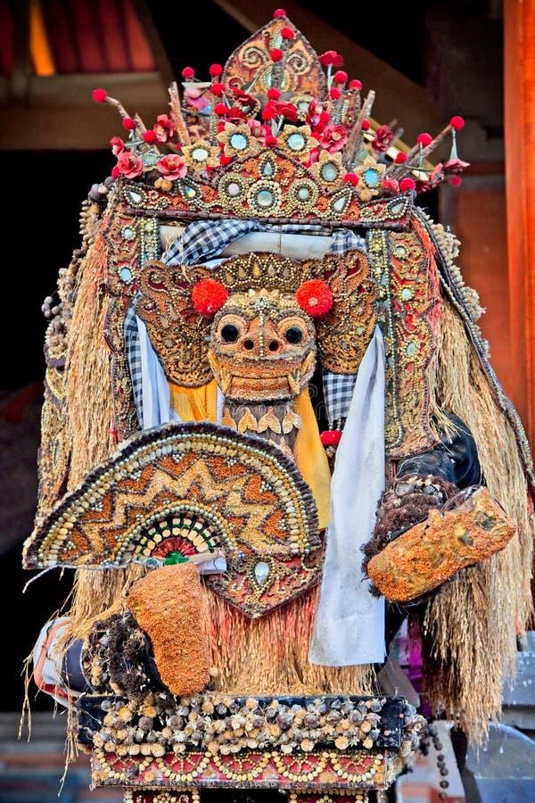 Maschera di ballo di Barong del leone, Ubud, Bali fotografie stock libere da diritti