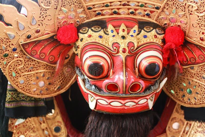 Maschera di Barong, firma della cultura di balinese immagini stock