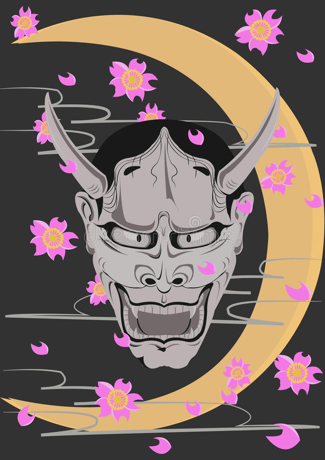Maschera di Kabuki immagini stock