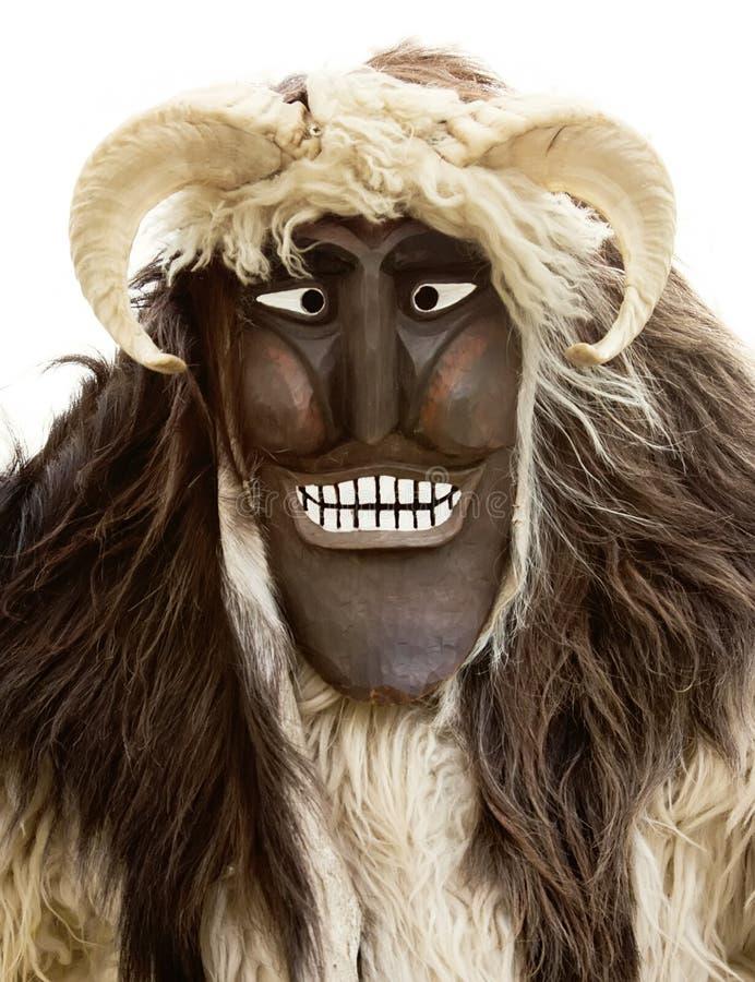 Maschera di Mohacsi Busojaras fotografie stock
