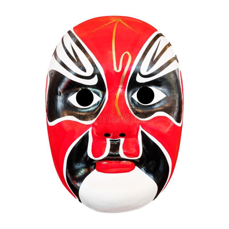 Maschera di opera del cinese tradizionale isolata su bianco fotografia stock libera da diritti