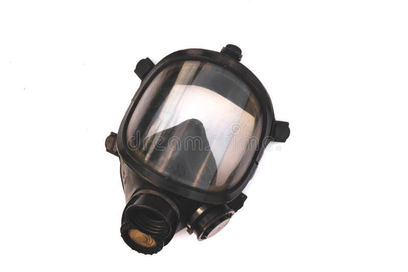 Maschera di ossigeno, maschera anti-gas, maschera anti-incendio in Thailandia isolato su fondo bianco fotografia stock libera da diritti