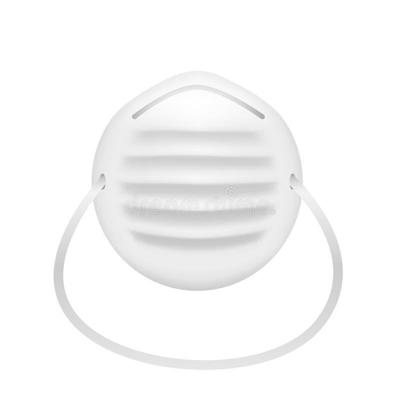 Maschera di polvere di vettore isolata su fondo bianco EPS10 royalty illustrazione gratis
