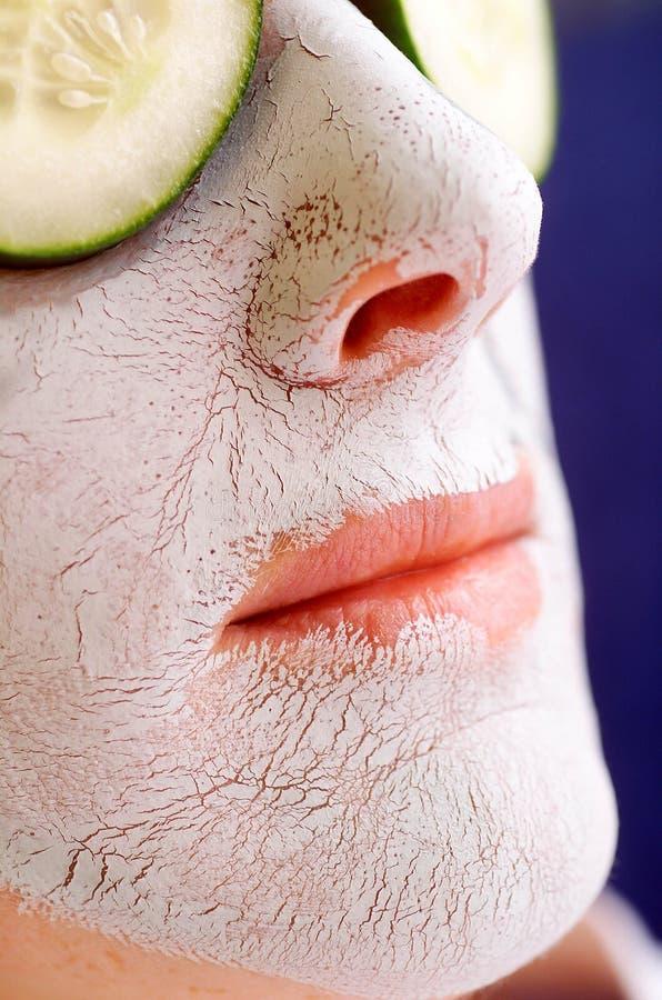 Maschera di protezione dell'argilla immagini stock libere da diritti