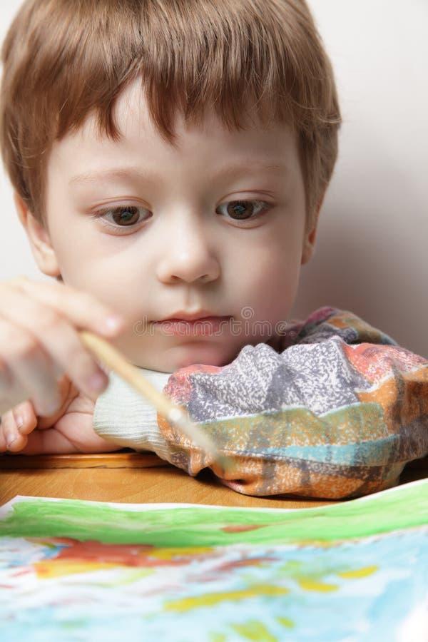 Maschera di tiraggio dei bambini immagini stock libere da diritti
