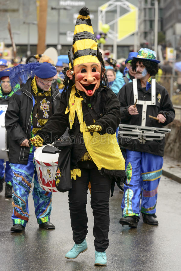 Maschera dispari alla parata di carnevale, Stuttgart fotografia stock