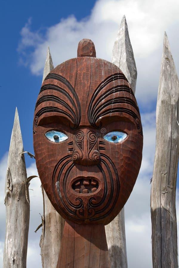 Maschera maori della Nuova Zelanda fotografia stock libera da diritti